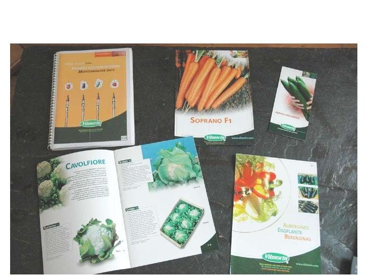 Réalisations pour Vilmorin :  field book, flyers, catalogue, fiche technique…