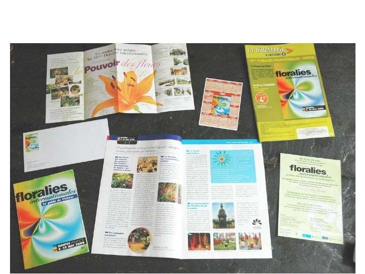 Réalisations pour les Floralies Internationales – Nantes :  flyers, magazine, guide du visiteur, agenda magnétique, envelo...