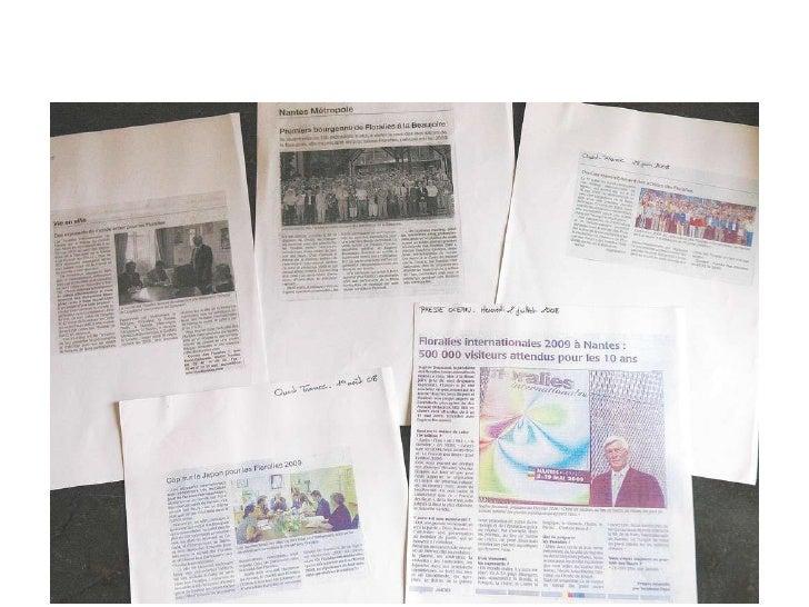 Articles de presse à l'occasion des 10e Floralies Internationales - Nantes