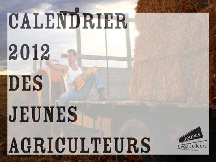Calendrier Jeunes Agriculteurs 2012