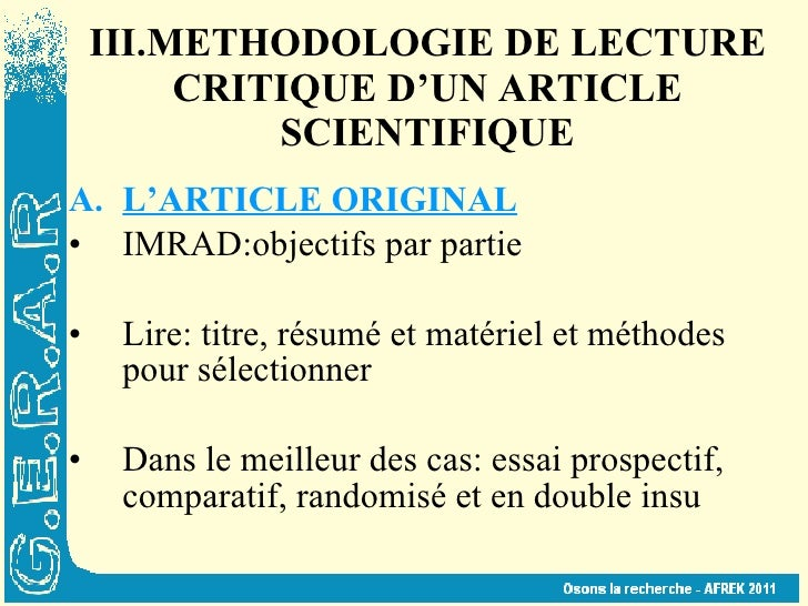 resume texte scientifique