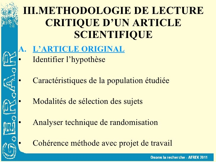 analyse critique article scientifique Re : critique scientifique de films emp  [divers] analyse critique des articles scientifique par t0yt0y dans le forum biologie réponses: 12.