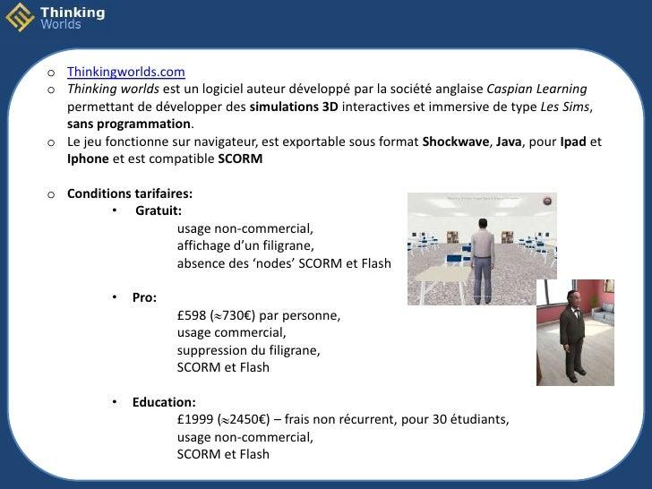 o Thinkingworlds.como Thinking worlds est un logiciel auteur développé par la société anglaise Caspian Learning  permettan...