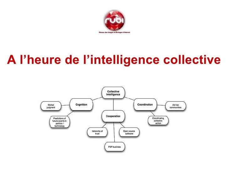 <ul><li>A l'heure de l'intelligence collective </li></ul>