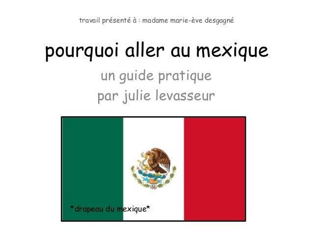 travail présenté à : madame marie-ève desgagnépourquoi aller au mexique         un guide pratique         par julie levass...