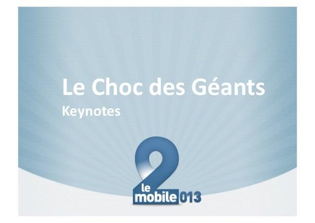 Le#Choc#des#Géants##Keynotes#