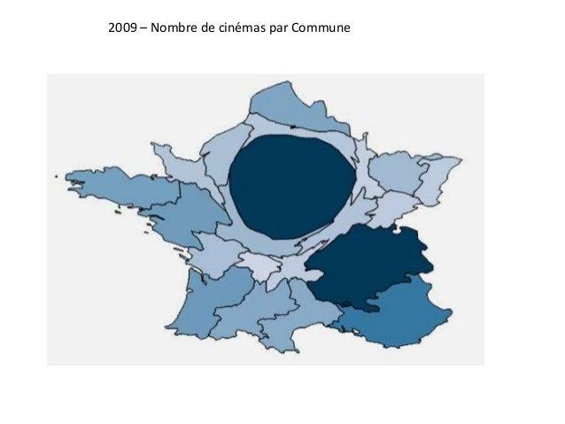 2009 – Nombre de cinémas par Commune