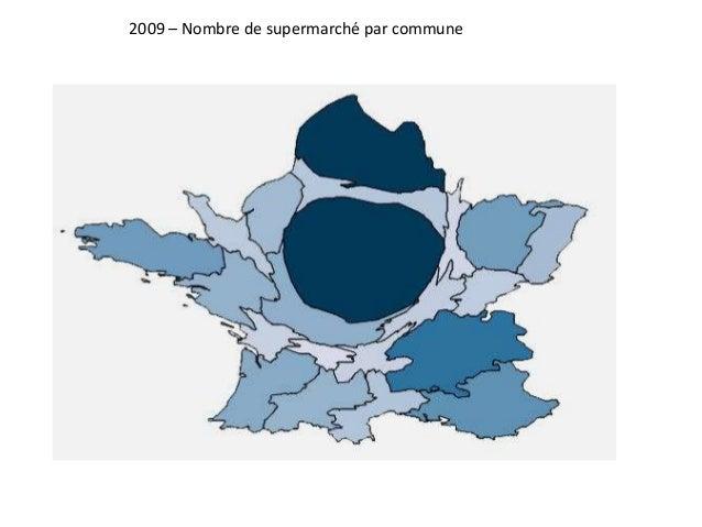 2009 – Nombre de supermarché par commune