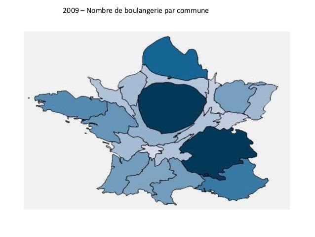 2009 – Nombre de boulangerie par commune