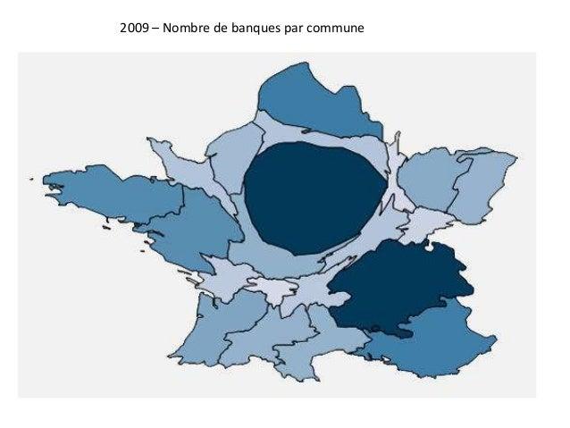 2009 – Nombre de banques par commune