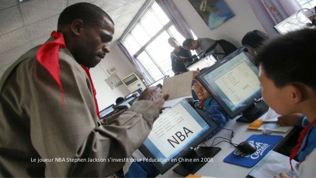 Le joueur NBA Stephen Jackson s'investit pour l'éducation en Chine en 2008