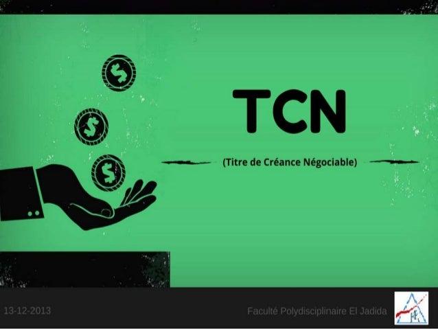 Les Titres de Créances Négociables (TCN)