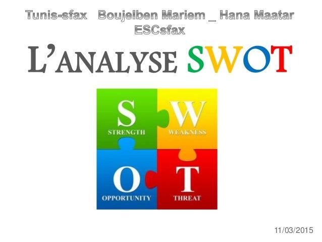 L'ANALYSE SWOT 11/03/2015