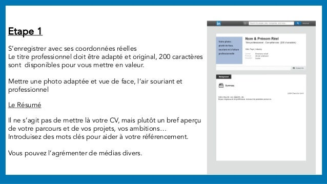 cr u00e9er et am u00e9liorer son profil linkedin