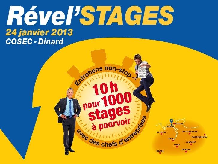 L'événement incontournable!de début 2013 sur notreterritoire1 jour = 200 entreprises & 1 000 stages à pourvoir