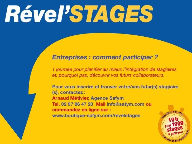 Rével'STAGES, en bref…-     Lieu : COSEC de Dinard-     Surface : 750 m2 -     Date : jeudi 24 janvier 2013-     Horai...