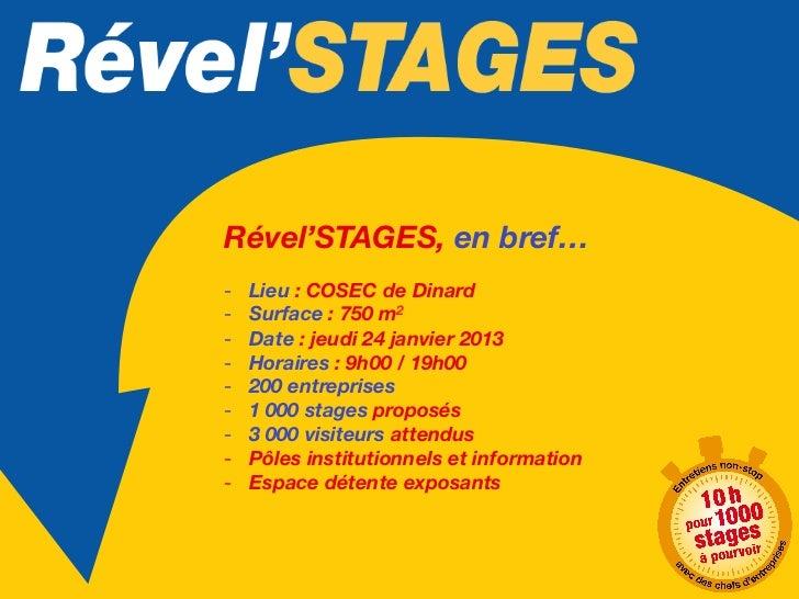 Un événement majeur sur notre territoireDevenez partenaire privilégié deRével'STAGES et bénéficiez :    - De la présence d...