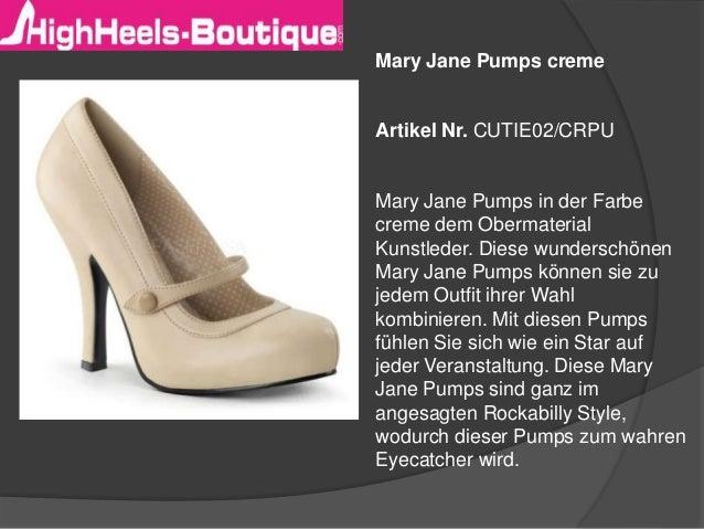 Mary Jane Pumps creme Artikel Nr. CUTIE02/CRPU Mary Jane Pumps in der Farbe creme dem Obermaterial Kunstleder. Diese wunde...