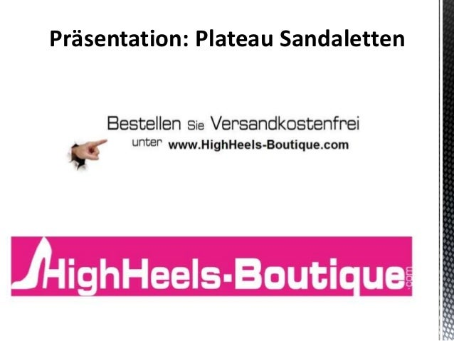 Präsentation: Plateau Sandaletten