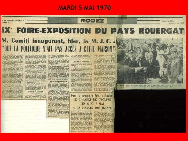 MARDI 5 MAI 1970