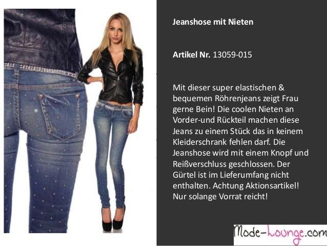 Jeanshose mit Nieten  Artikel Nr. 13059-015 Jeansprint Leggings Mit dieser super elastischen & bequemen Röhrenjeans zeigt ...