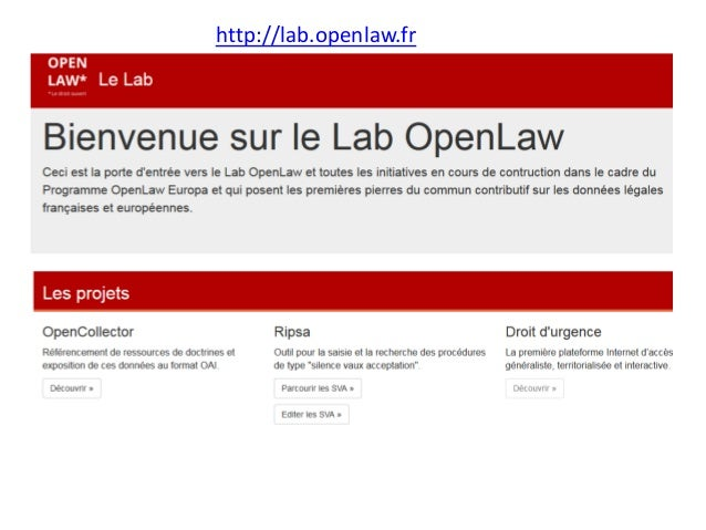 http://lab.openlaw.fr