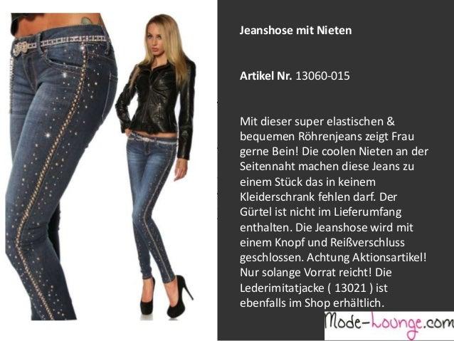 Jeanshose mit Nieten  Artikel Nr. 13060-015 Jeansprint Leggings Mit dieser super elastischen & bequemen Röhrenjeans zeigt ...