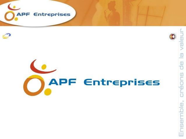 L'APF à 23 entreprises adaptées dans toute la                     France Dont une à Dinozé, à coté d'Epinal, ou nous      ...