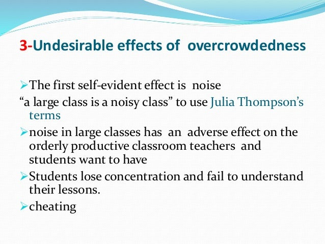 effects of overcrowded classrooms