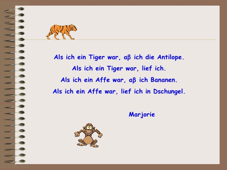 Gedicht Tiger