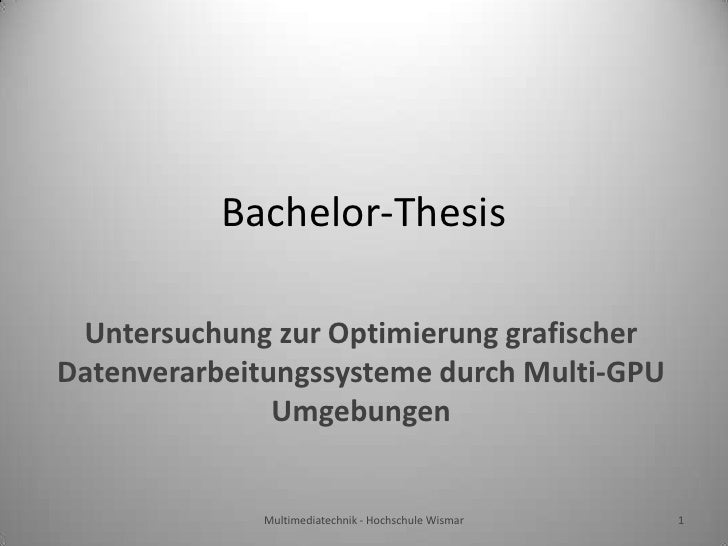 Bachelor's and Master's theses
