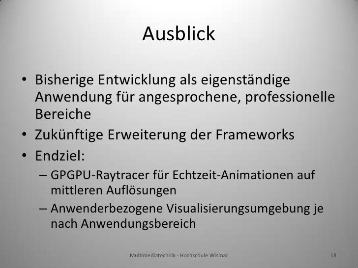 Bachelor thesis presentation