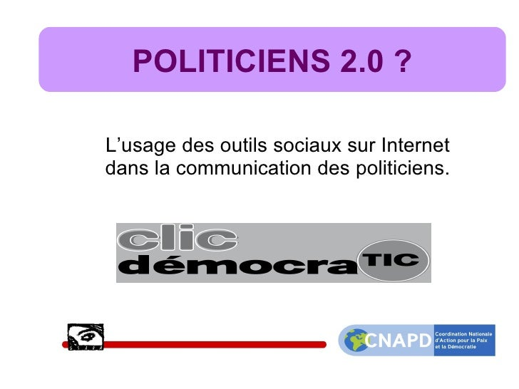 Politiciens belges et web 2.0