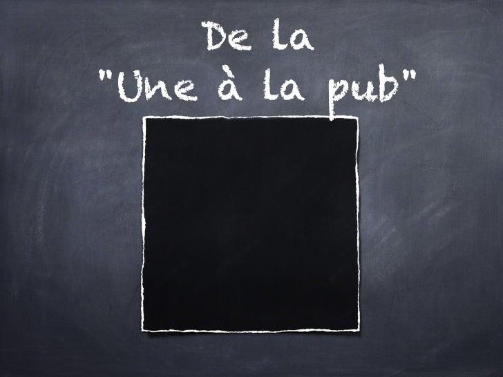 """De la """"Une à la pub"""""""