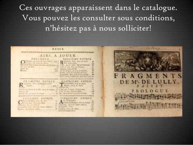 Ces ouvrages apparaissent dans le catalogue. Vous pouvez les consulter sous conditions, n'hésitez pas à nous solliciter!