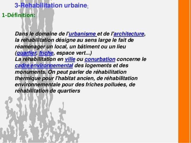 la rénovation urbaine définition