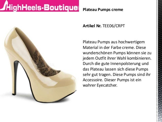 plateau pumps online bestellen plateau high heels auf. Black Bedroom Furniture Sets. Home Design Ideas