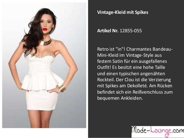 """Vintage-Kleid mit Spikes  Artikel Nr. 12855-055 Jeansprint Leggings Retro ist """"in""""! Charmantes BandeauMini-Kleid im Vintag..."""