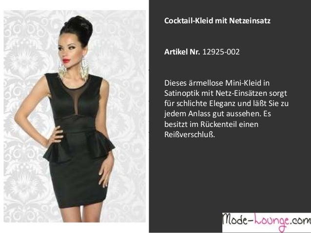 Cocktail-Kleid mit Netzeinsatz  Artikel Nr. 12925-002 Jeansprint Leggings Dieses ärmellose Mini-Kleid in Satinoptik mit Ne...