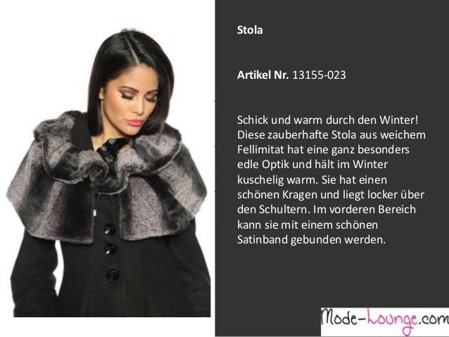 Stola  Artikel Nr. 13155-023 Jeansprint Leggings Schick und warm durch den Winter! Diese zauberhafte Stola aus weichem Art...