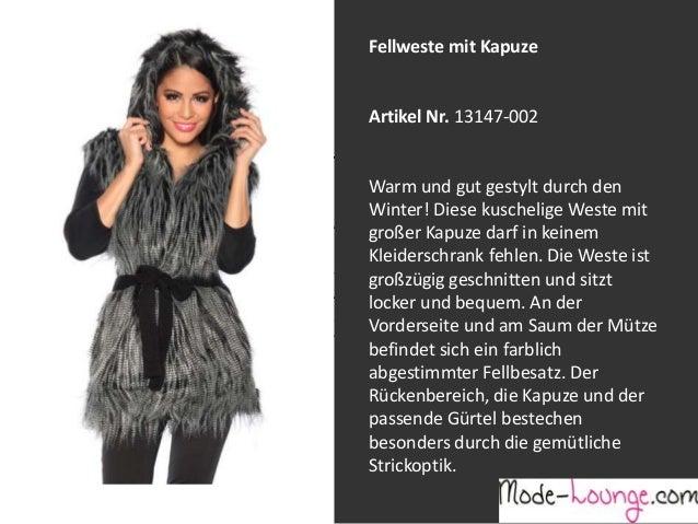 Fellweste mit Kapuze  Artikel Nr. 13147-002 Jeansprint Leggings Warm und gut gestylt durch den Winter! Diese kuschelige We...