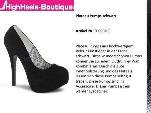 Plateau Pumps schwarz Artikel Nr. TEE06/BS Plateau Pumps aus hochwertigem Velour Kunstleder in der Farbe schwarz. Diese wu...