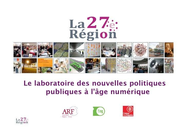 Le laboratoire des nouvelles politiques       publiques à l'âge numérique
