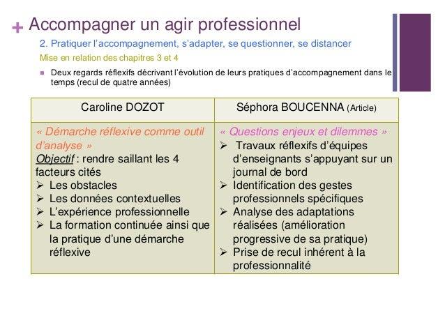 + Accompagner un agir professionnel2. Pratiquer l'accompagnement, s'adapter, se questionner, se distancerMise en relation ...