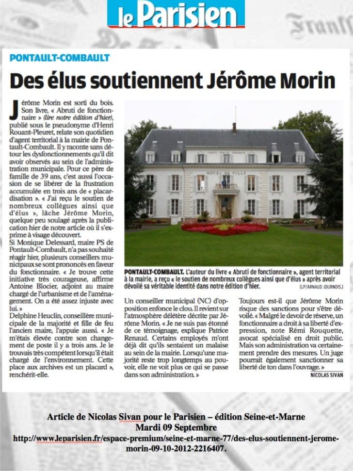 """Revue de Presse """"Abruti de fonctionnaire"""", Henri Rouant-Pleuret"""