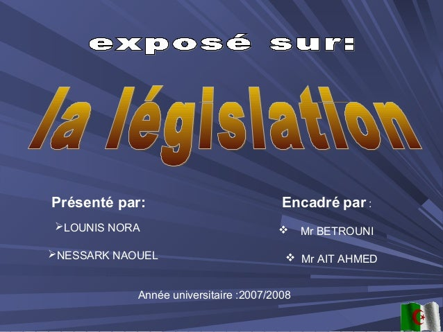 Présenté par:LOUNIS NORANESSARK NAOUELEncadré par : Mr BETROUNI Mr AIT AHMEDAnnée universitaire :2007/2008