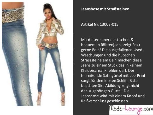 Jeanshose mit Straßsteinen  Artikel Nr. 13003-015 Jeansprint Leggings Mit dieser super elastischen & bequemen Röhrenjeans ...