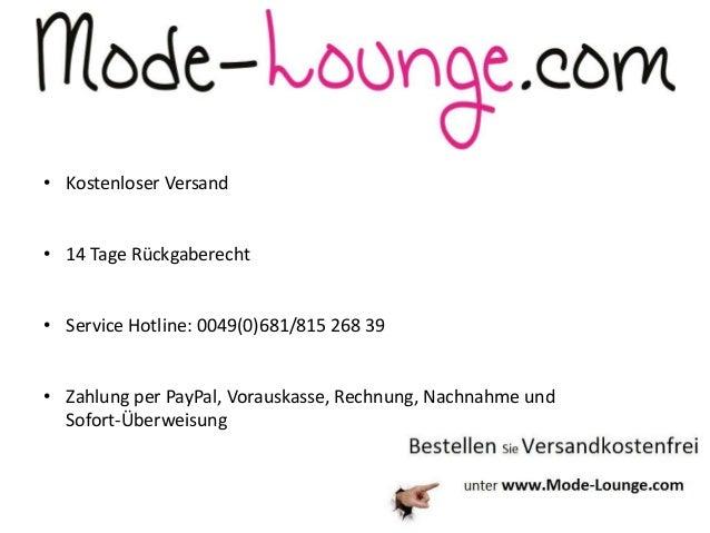 • Kostenloser Versand • 14 Tage Rückgaberecht • Service Hotline: 0049(0)681/815 268 39 • Zahlung per PayPal, Vorauskasse, ...