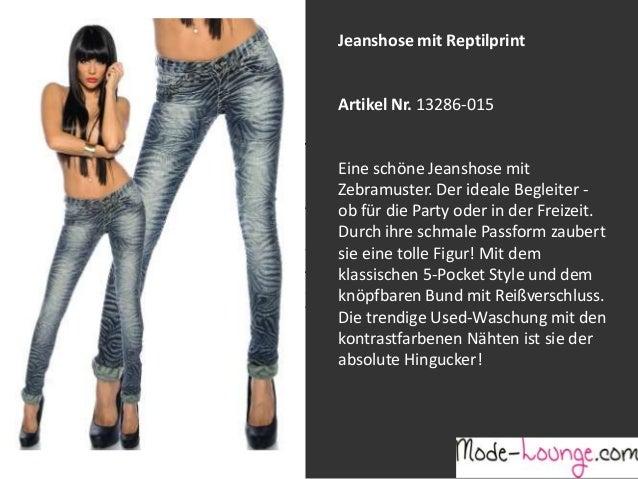 Jeanshose mit Reptilprint  Artikel Nr. 13286-015 Jeansprint Leggings Eine schöne Jeanshose mit Zebramuster. Der ideale Beg...