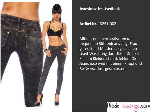 Jeanshose im Usedlook  Artikel Nr. 13251-002 Jeansprint Leggings Mit dieser superelastischen und bequemen Röhrenjeans zeig...